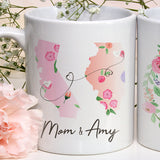 Mother Daughter Long Distance Mug The Love Between a Mother and Daughter Knows No Distance Quote Mother's Day Gift