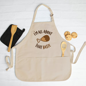 I'm All About That Baste Thanksgiving Apron Christmas Apron Funny Cute Thanksgiving Apron Thanksgiving Gift