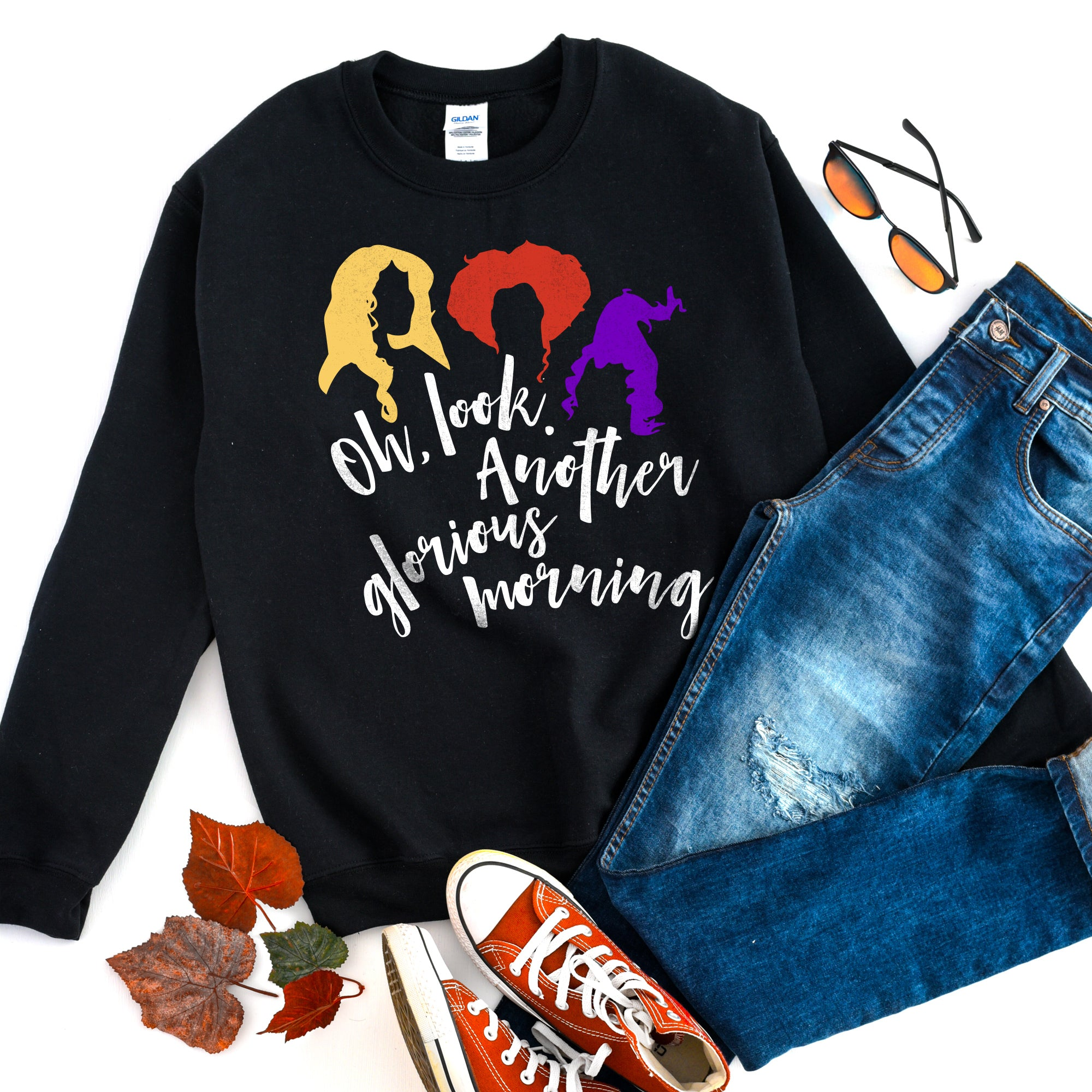 Oh Look Another Glorious Morning Halloween Sweatshirt Cute Funny Halloween Shirt Halloween Witch Sweatshirt Halloween Sweater
