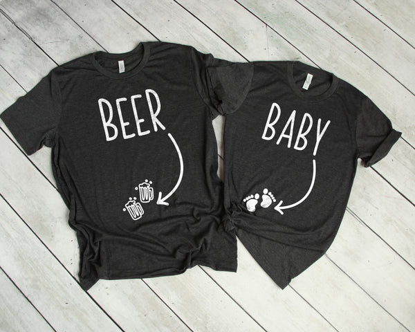 Couples Pregnancy Announcement Shirts Funny Baby Beer Shirts Est 2019 Cute Pregnancy Announcement Shirts for Couple Mom to Be Shirt Dad to Be Shirt Cute Funny Pregnancy Reveal Shirts