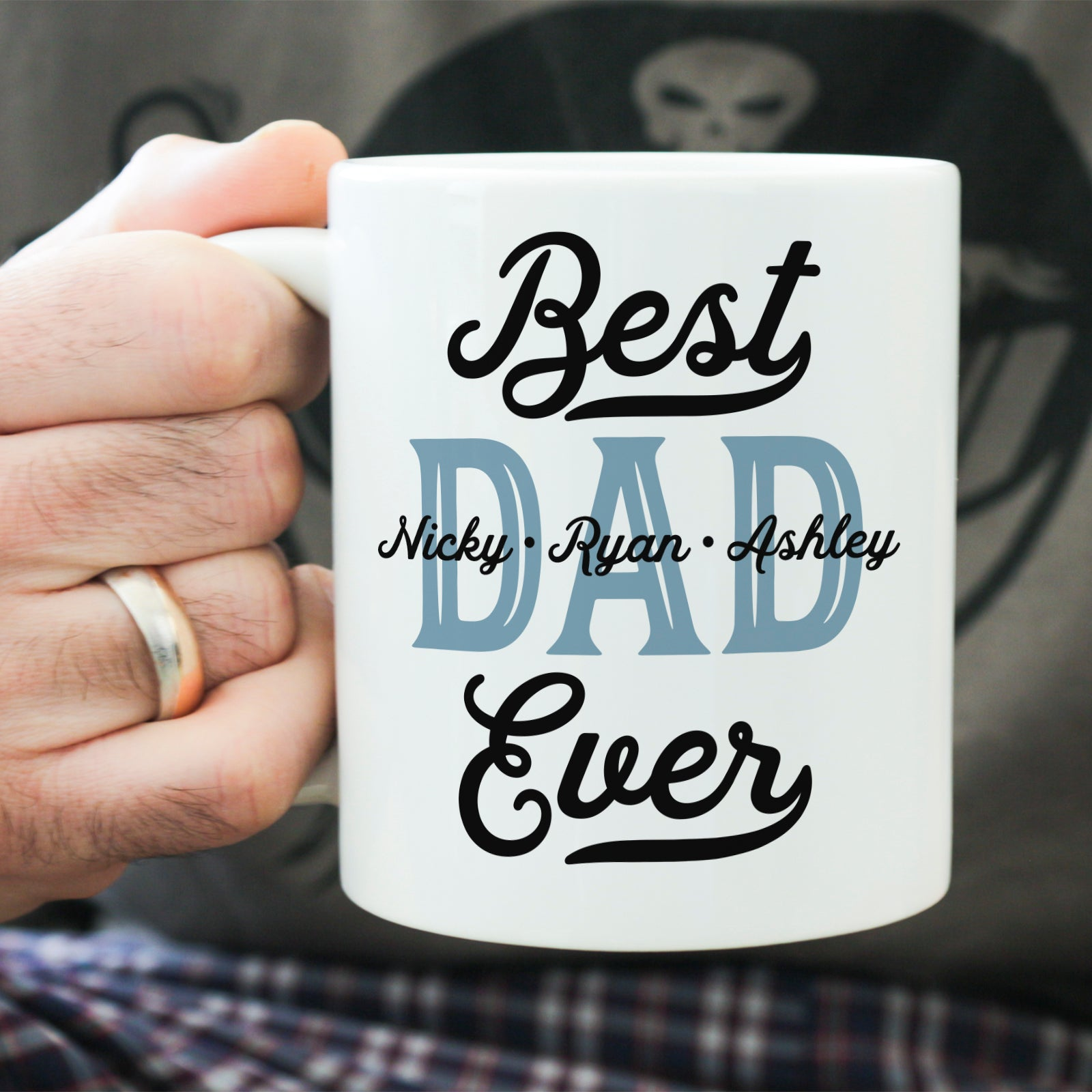 Best Dad Ever Mug Personalized Mug for Dad with Children's Names Cute Father's Day Gift Father's Day Coffee Mug Gift for Dad