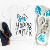 Hoppy Easter Bunny Ears Children's Shirt - Happy Easter Shirt for Kids - Easter Shirt for Boys - Easter Shirt for Girls - Cute Easter Bunny Shirt