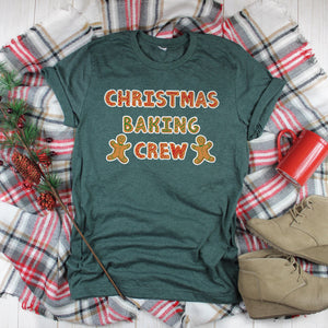 Christmas Baking Crew Shirt Cute Christmas Shirt Christmas Cookie Baking Shirt Gingerbread Cookie Shirt
