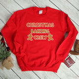 Christmas Baking Crew Sweatshirt Cute Christmas Shirt Christmas Cookie Baking Shirt Gingerbread Cookie Sweathirt Christmas Sweater