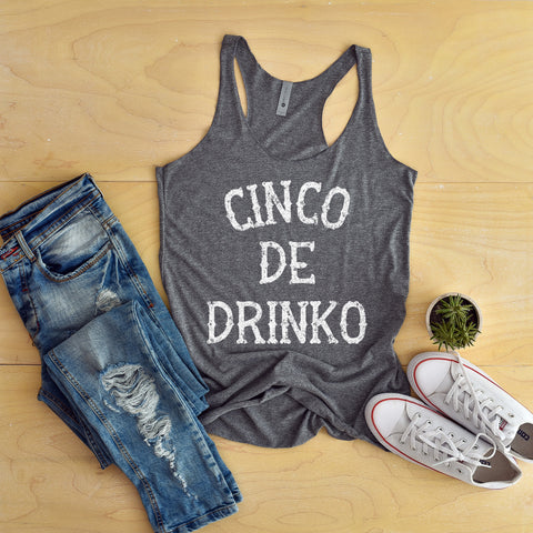 Cinco de Mayo Shirt for Women Cinco De Drinko Tank Top Funny Cinco De Mayo Tank Top