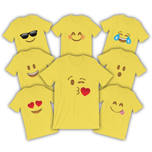 Emoji Shirts Adult Women Men Emoji Halloween Costume Shirts Cute Matching Halloween Costumes Teachers Couples Best Friends