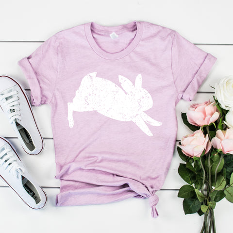 Easter Bunny Shirt for Women Cute Easter Shirt Ladies Easter Shirt Vintage Bunny Rabbit Shirt