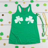 St. Patrick's Day Shirt Funny Shamrocks Shirt for Women Cute Shamrock Boobs Tank Top St. Paddy's Day Shirt