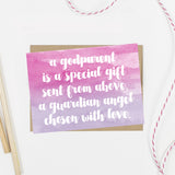 Will You Be My Godmother Watercolor Print Card