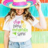 Chip Dippin and Margarita Sippin Shirt - Cinco de Mayo Shirt for Women - Cute Funny Cinco de Mayo Shirt - Summer Vacation Beach Cruise Mexico Shirt
