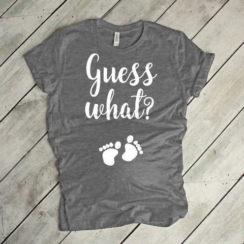 Guess What Pregnancy Announcement Shirt Baby Announcement Surprise Pregnancy Shirt I'm Pregnant Shirt