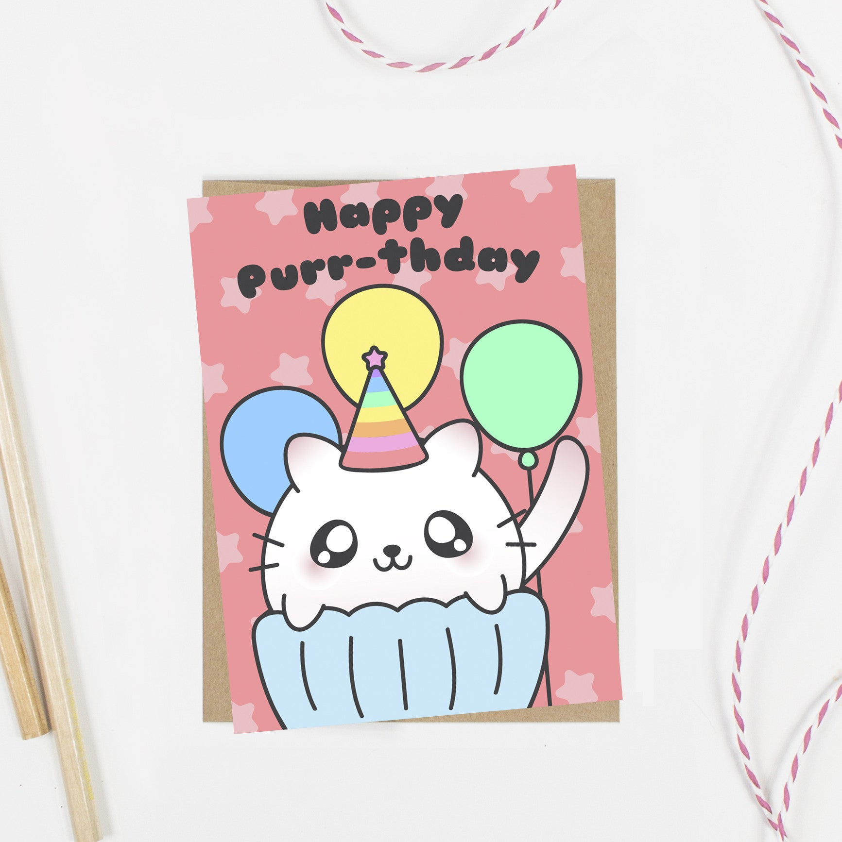 Happy Purr-thday Birthday Cat Card