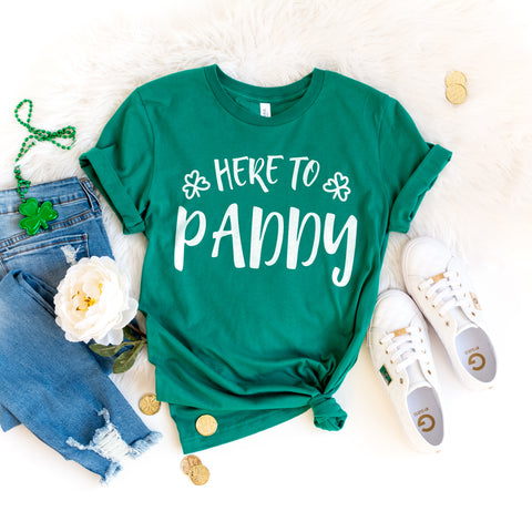 Here to Paddy Shamrock St. Patrick's Day Shirt Shamrock Shirt Cute Funny St. Paddy's Day Shirt Day Drinking St. Patrick's Day Party Shirt
