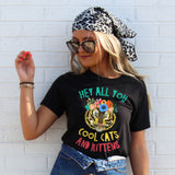 Hey All You Cool Cats and Kittens Shirt - Tiger Shirt - Tiger with Floral Crown Shirt - Big Cats Shirt - Funny Cat Shirt - Cat Lover Shirt - Female Tiger Shirt