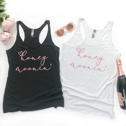 Honeymoonin' Honeymoon Shirt Honeymoon Tank Top Honeymoon Tee Just Married Shirt Cute Honeymoon T-Shirt