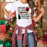 Christmas Shirt - I Just Want to Drink Hot Cocoa Bake Stuff and Watch Christmas Movies Shirt - Christmas Shirt for Women - Winter Holiday Shirt