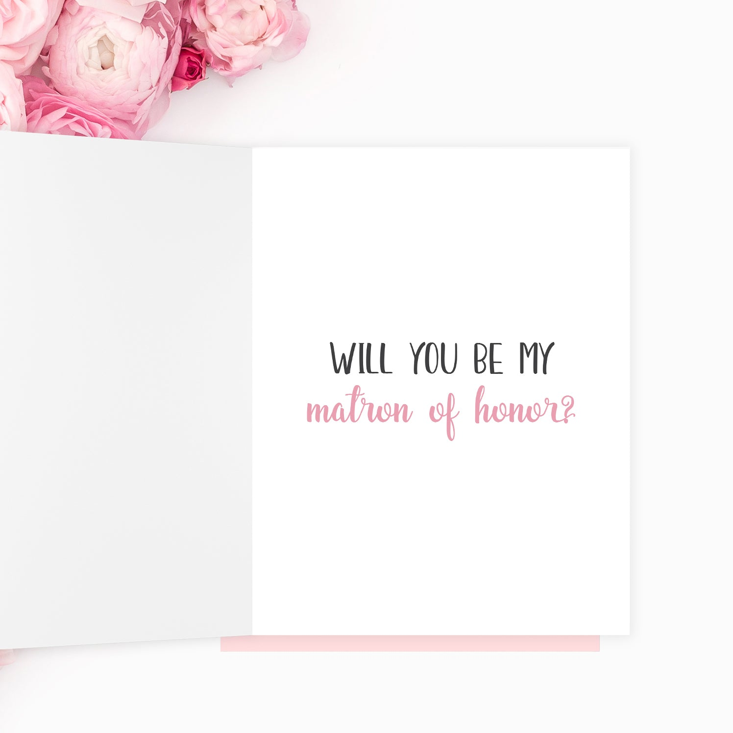Will You Be My Matron of Honor Card I Can't Say I Do Without You