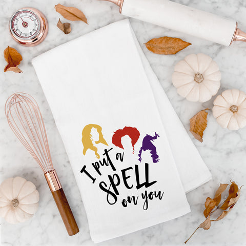 I Put a Spell on You Halloween Kitchen Towel Halloween Decor Cute Funny Halloween Kitchen Decorations