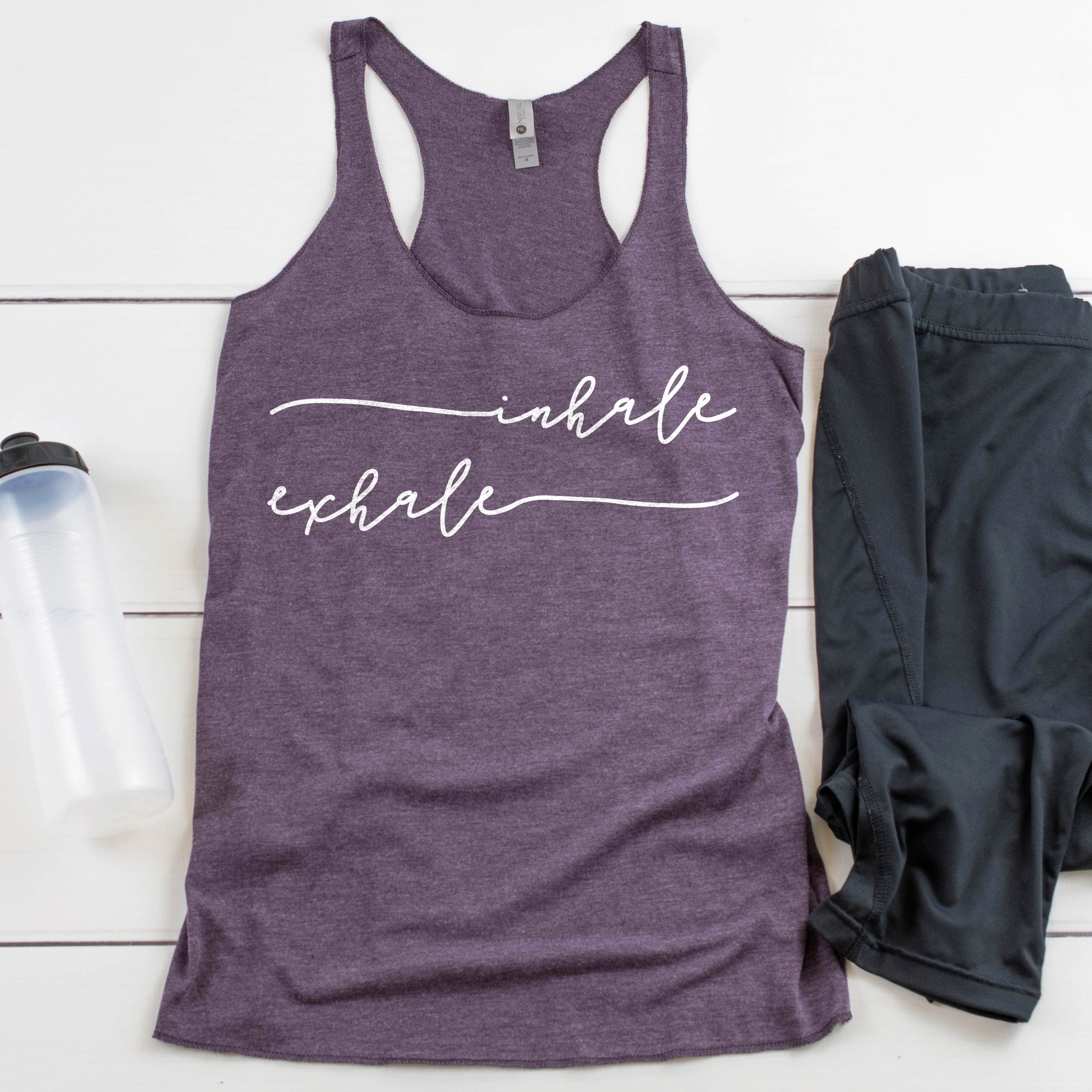 Inhale Exhale Yoga Tank Top Cute Yoga Shirt Inhale Exhale Yogi Shirt