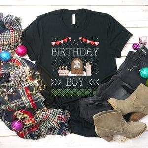 Jesus Christmas Shirt Jesus Birthday Boy Christmas Shirt Ugly Christmas Sweater Shirt