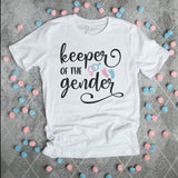 Keeper of the Gender Shirt - Gender Reveal Shirt - Gender Reveal Party Shirt Unisex SS