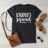 Kinder Grade Squad Kindergarten Teacher Shirt Teacher Team Shirts Grade Level Shirts Matching Teacher Shirts Team Kindergarten Grade Shirts