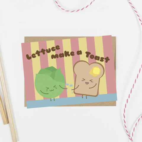 Lettuce Make a Toast Card