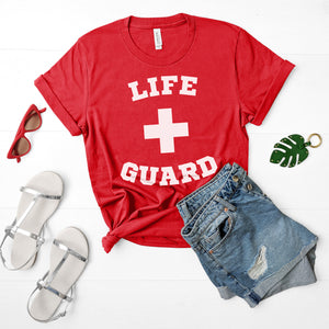 Lifeguard Shirt Life Guard Shirt Lifeguard Halloween Costume Cute Easy Halloween Costume Shirt