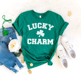 Lucky Charm St. Patrick's Day Shirt Cute St. Paddy's Day Shirt Shamrock Shirt Green St. Patrick's Day Shirt for Women