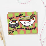 You Maki Miso Happy Kawaii Sushi Card