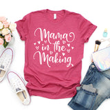 Mama in the Making Shirt Pregnancy Shirt Pregnant Shirt Baby Announcement Shirt Baby Shower Shirt