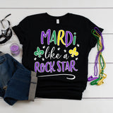 Mardi Like a Rock Star Mardi Gras Shirt Cute Funny Mardi Gras Party Shirt Mardi Gras Parade Bourbon Street NOLA Shirt New Orleans Shirt