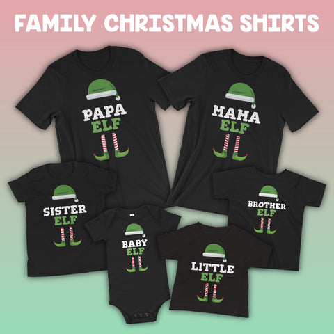 Matching Elf Family Christmas Shirts