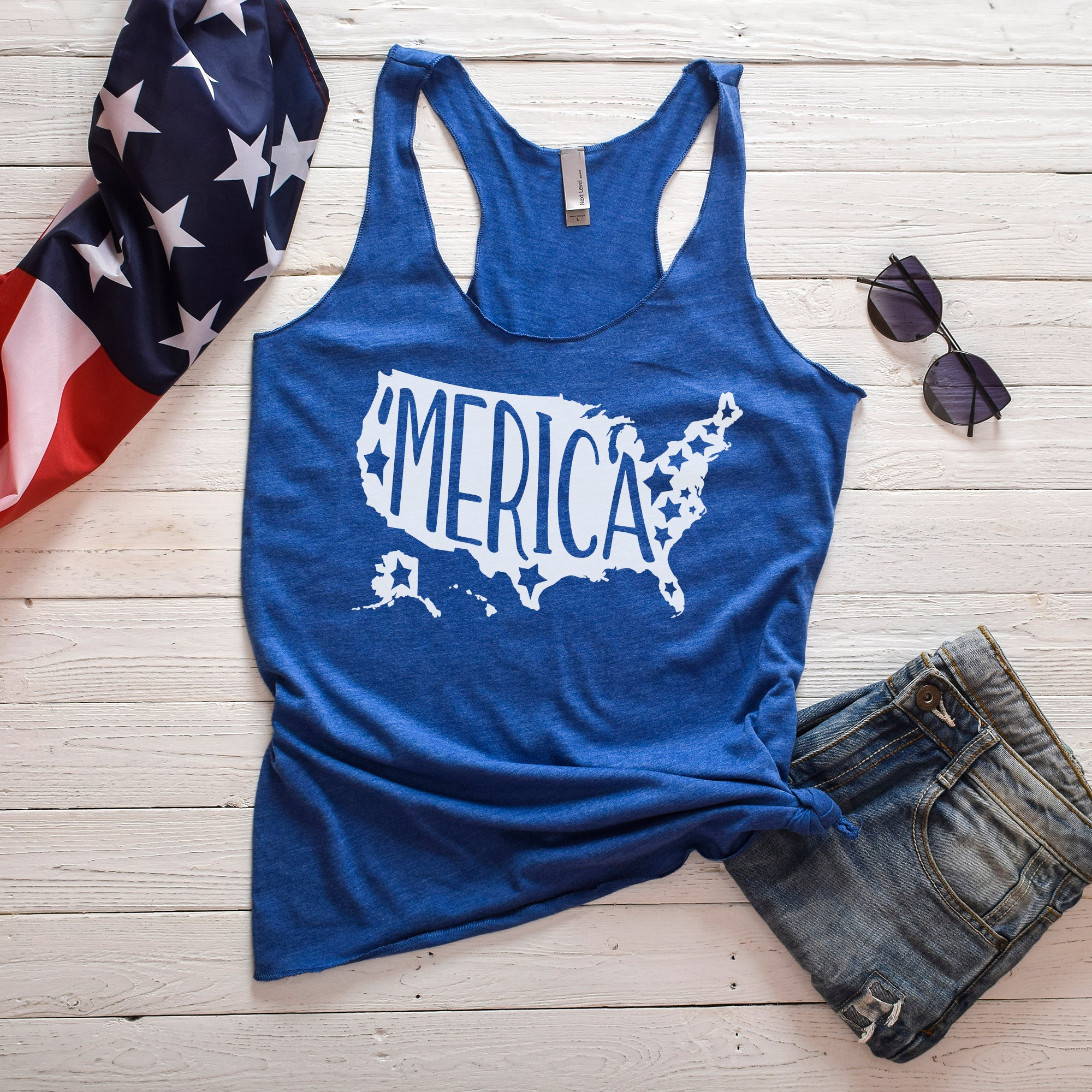 Merica Fourth of July Shirt 4th of July Shirt Women Fourth of July Tank Top
