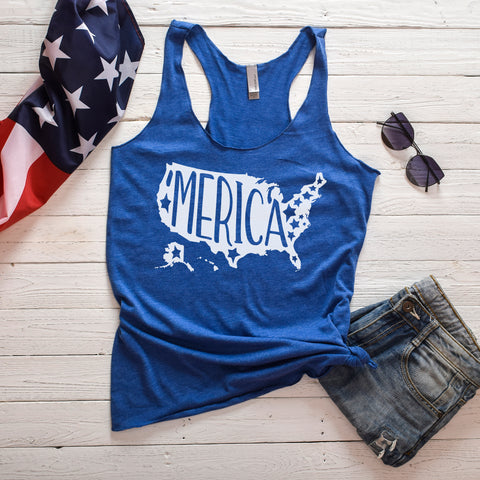 'Merica Fourth of July Tank Top