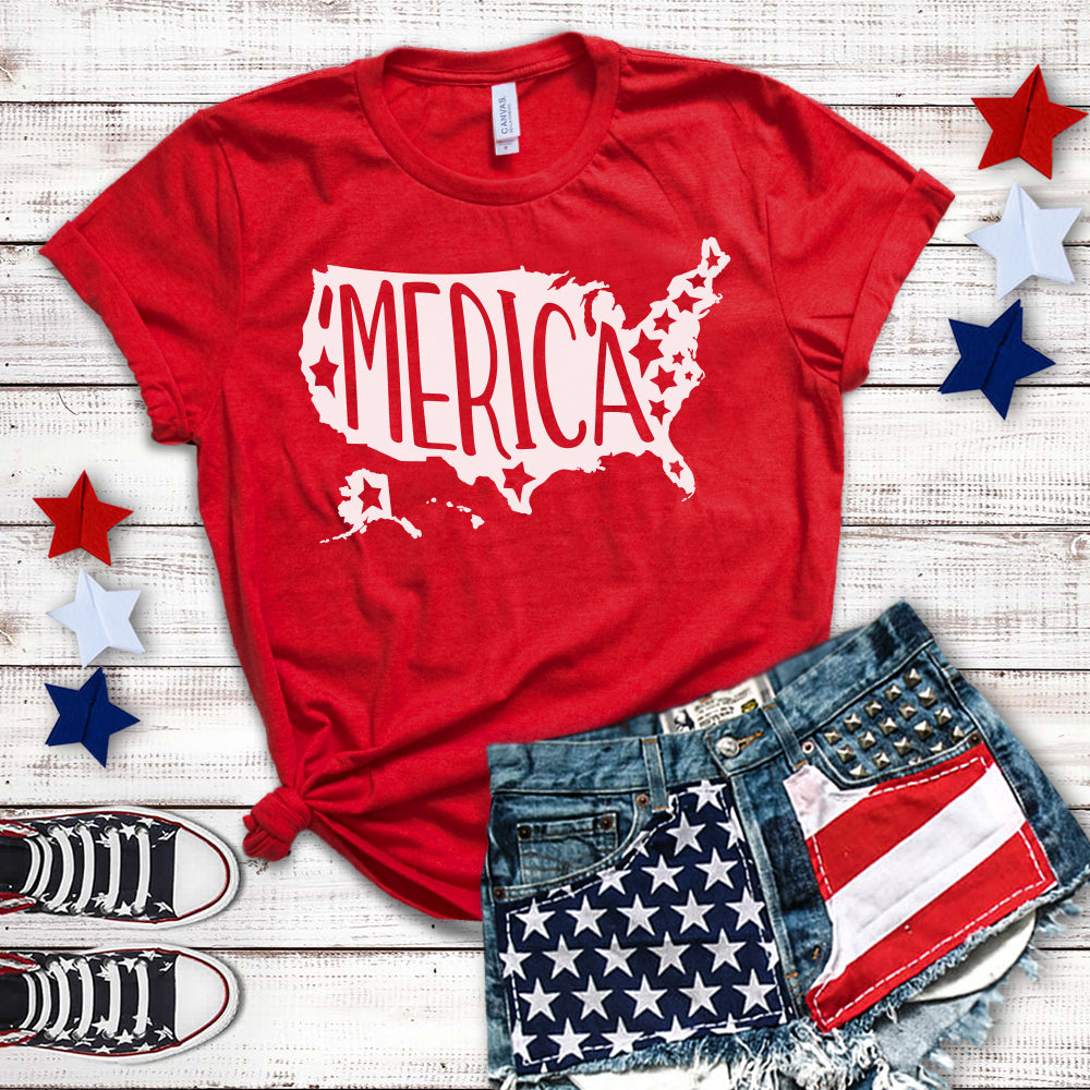 Merica Fourth of July Shirt 4th of July Shirt Women Fourth of July T-shirt