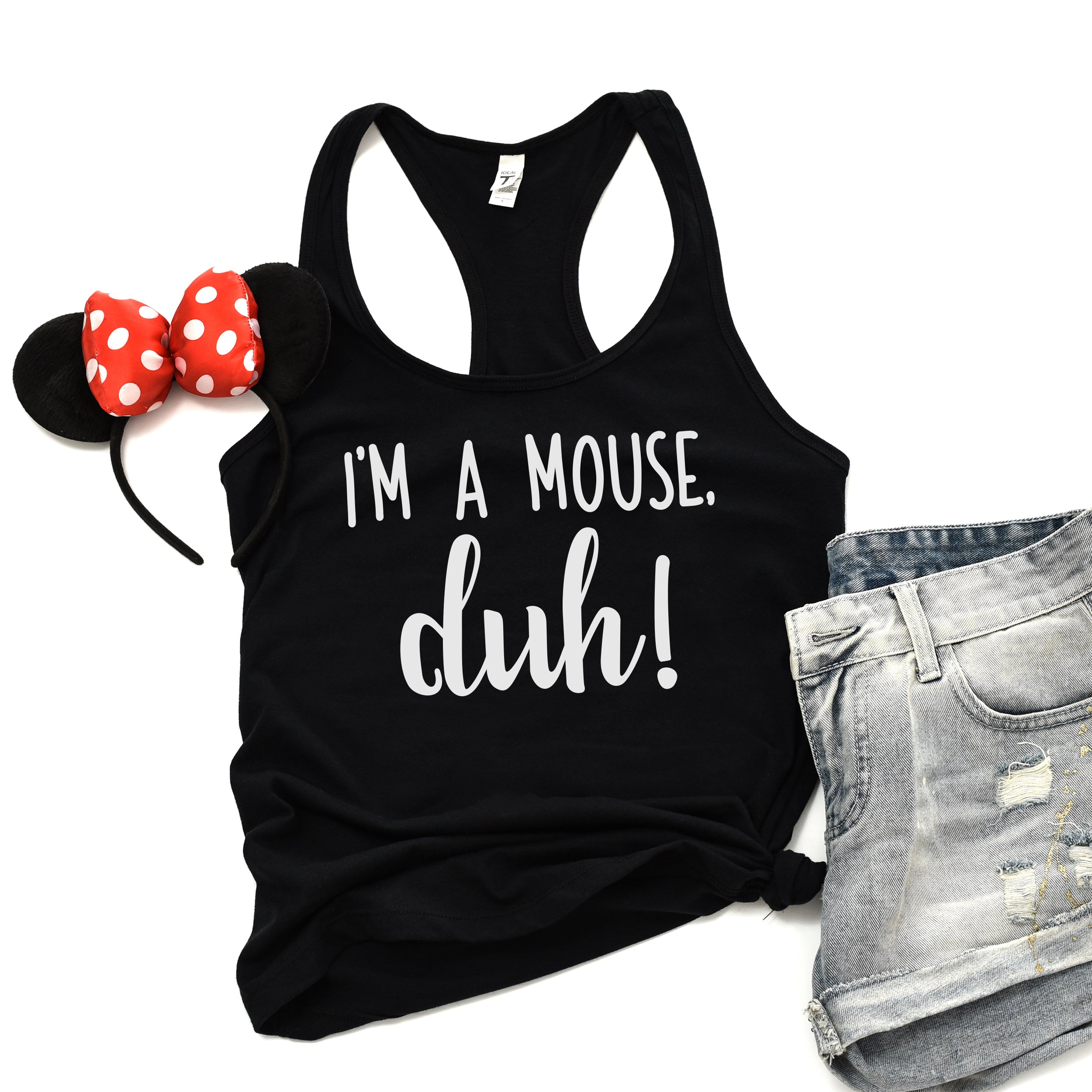 I'm a Mouse Duh Shirt Cute Halloween Costume Shirt Funny Halloween Shirt Mouse Costume