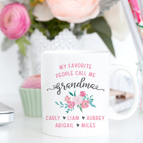 My Favorite People Call Me Grandma Mug Mother's Day Gift for Grandma Grandmother Gift Grandma Mug Personalized Grandma Mug