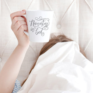 Namastay in Bed Mug - AlluringPrints