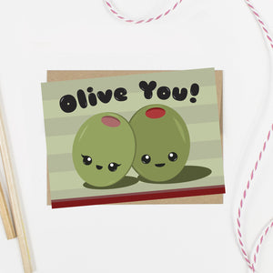 Olive You Love Card - AlluringPrints