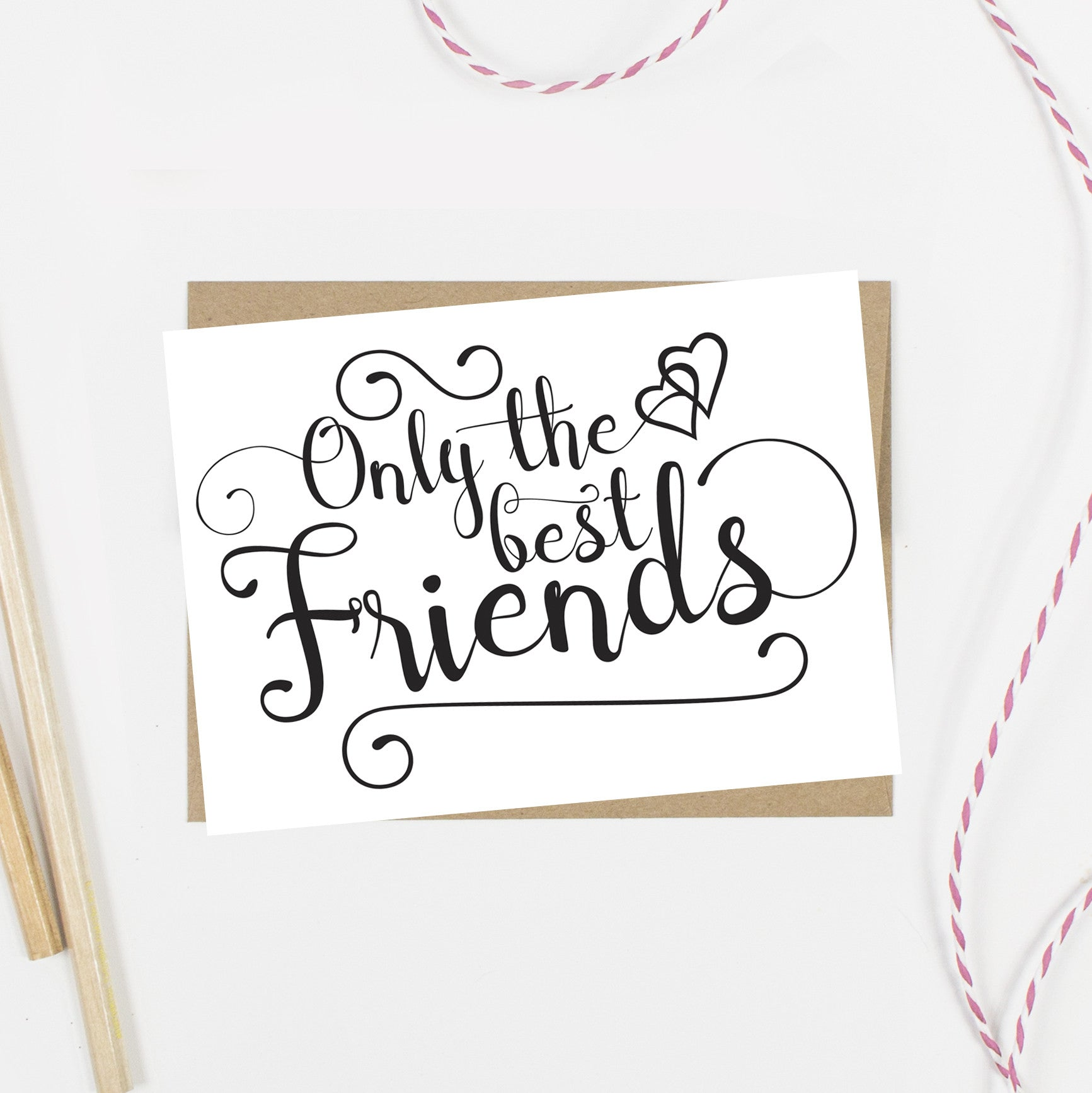Only the Best Friends Get Promoted to Bridesmaid Card