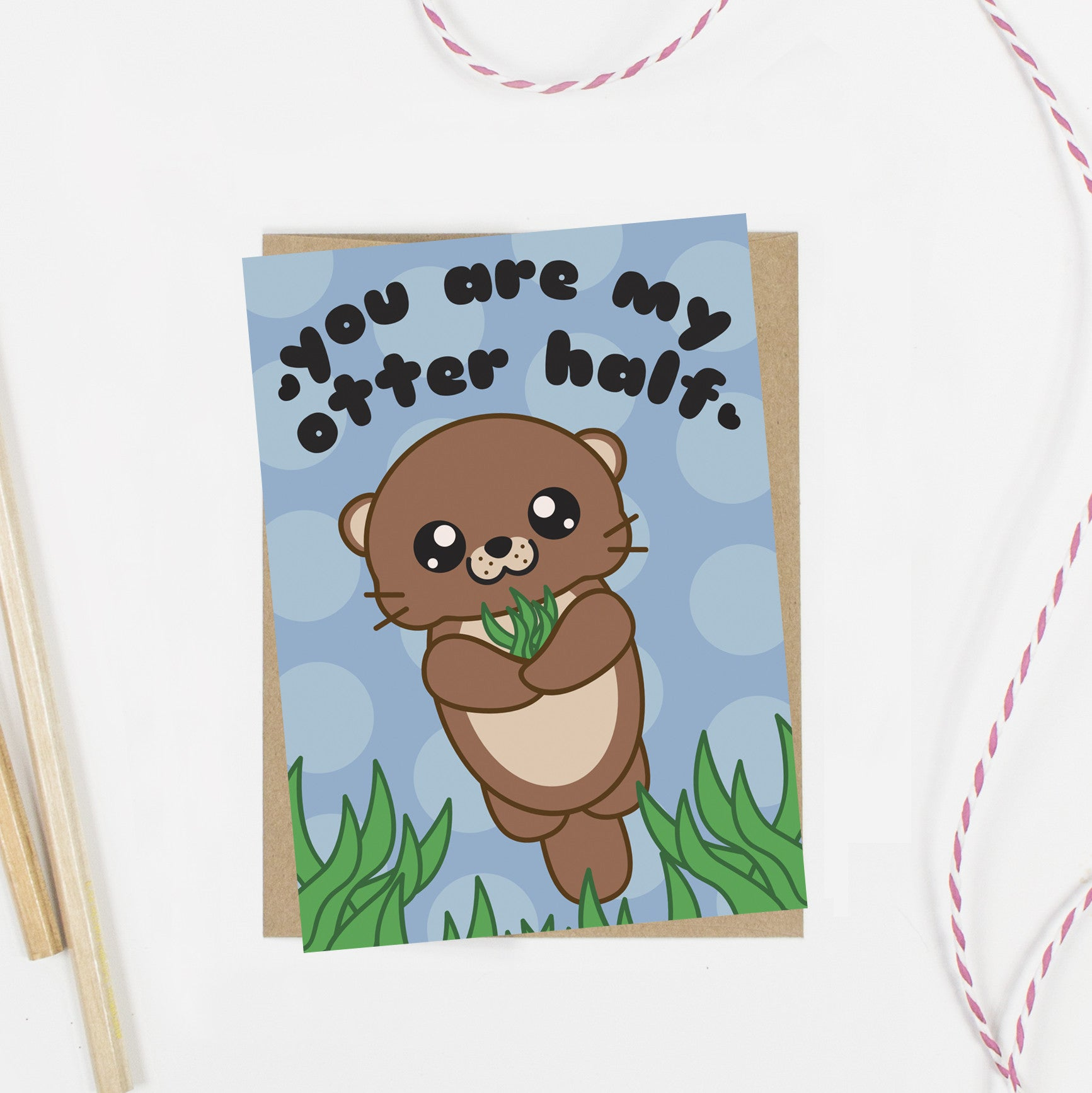 You Are My Otter Half Kawaii Greeting Card