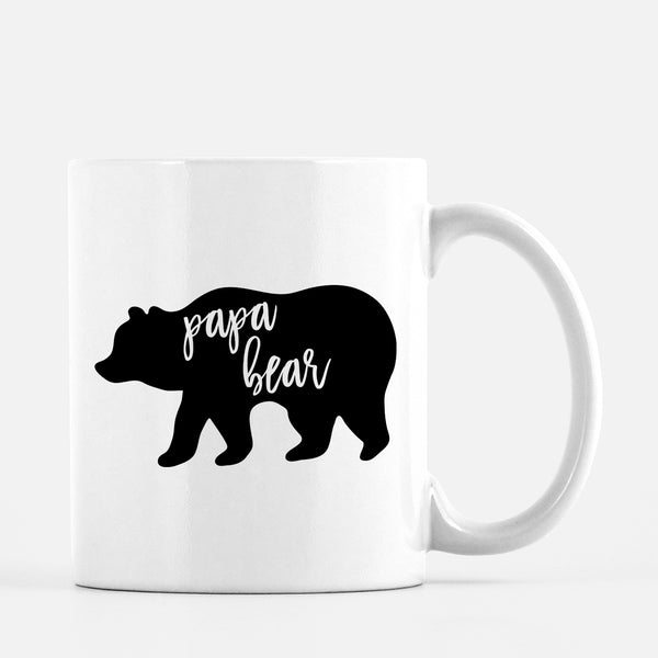 Papa Bear Mug Father's Day Gift for Dad
