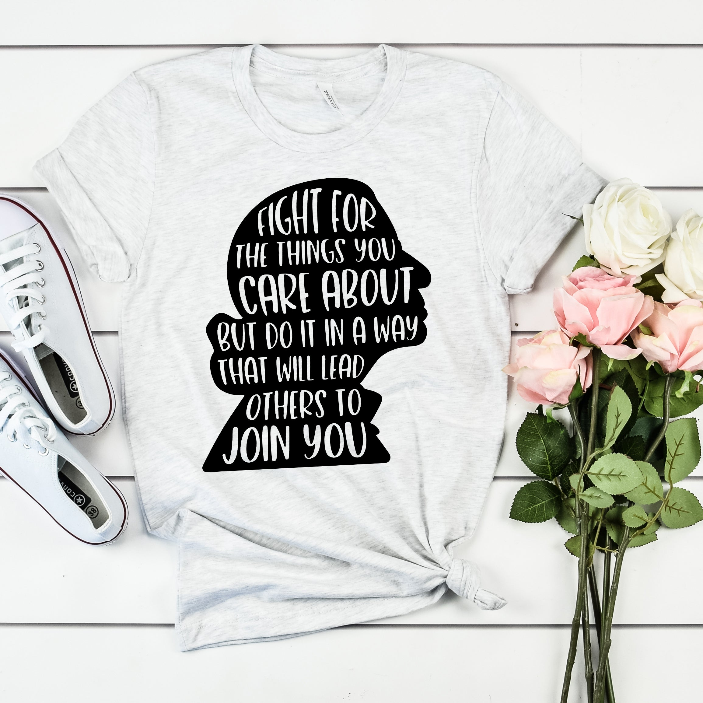 Ruth Bader Ginsburg Shirt – RBG Quote Shirt – RBG Silhouette Shirt – Fight for the Things You Care About Shirt