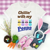 Chillin' with My Peeps Shirt - Easter Shirt for Women - Cute Easter Bunny Shirt - Marshmallow Bunnies Shirt