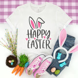 Happy Easter Bunny Ears Shirt - Easter Shirt for Women - Cute Easter Bunny Shirt