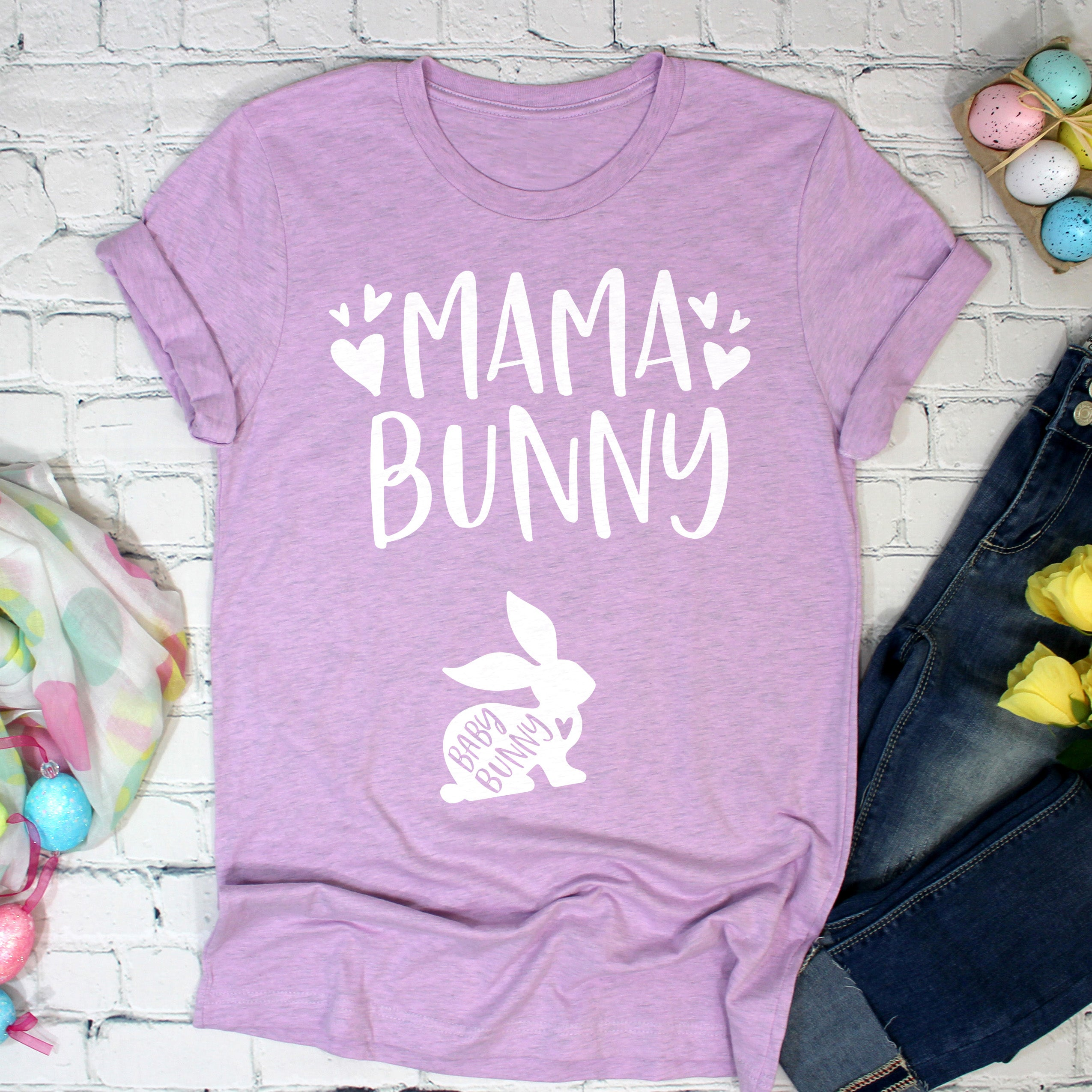 Mama Bunny Shirt - Baby Bunny Shirt - Easter Pregnancy Shirt for Women - Easter Bunny Pregnant Shirt - Easter Spring Pregnancy Announcement