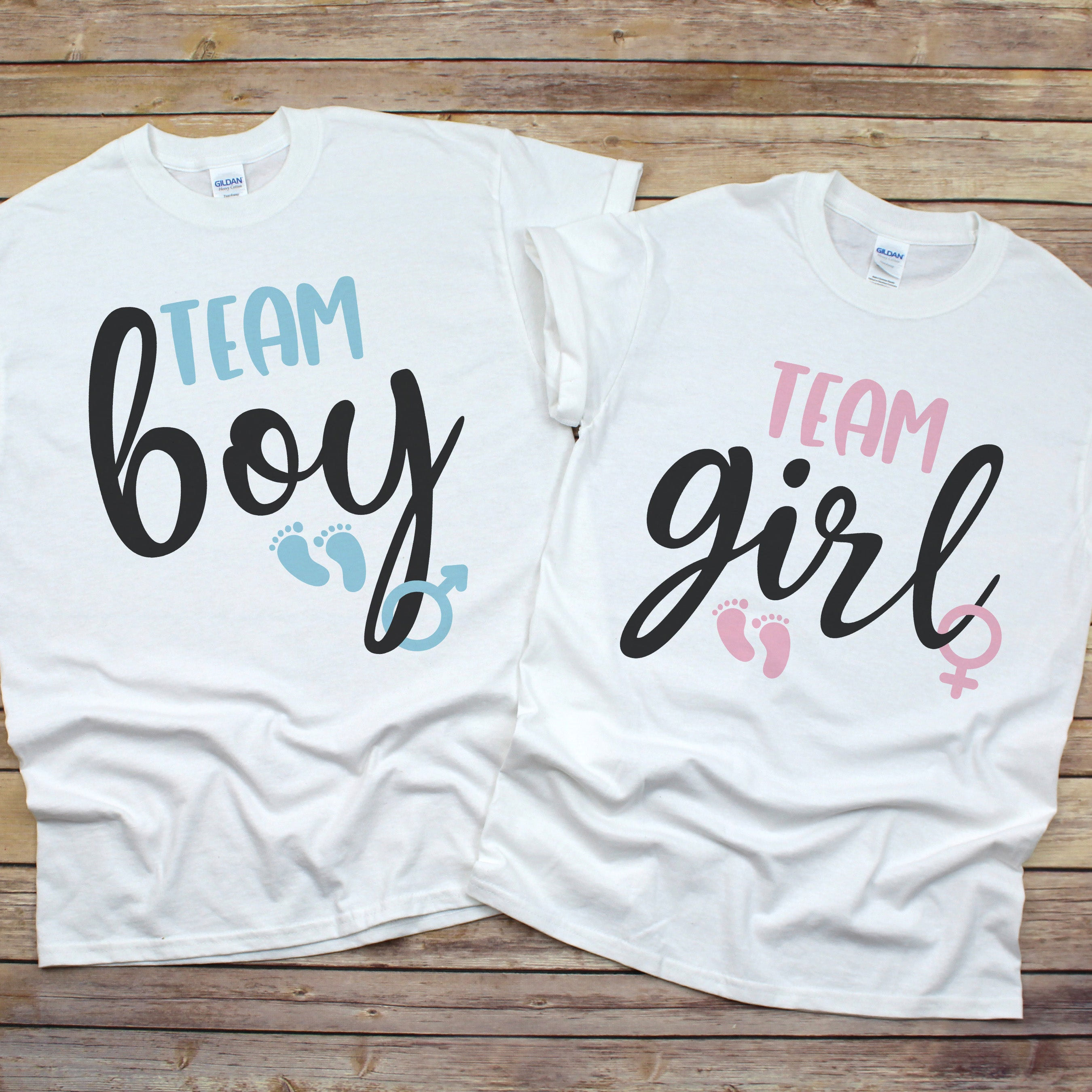 Team Boy or Team Girl Shirt - Gender Reveal Shirt - Pink or Blue Shirt - Gender Reveal Party Shirt Unisex SS