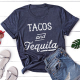 Tacos and Tequila Shirt Cinco de Mayo Shirt Taco Tuesday Shirt Cute Mexico Vacation Shirt for Women