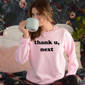 Thank U Next Sweatshirt Cute Sweatshirt for Women Thank You Next Sweatshirt Pink Sweatshirt